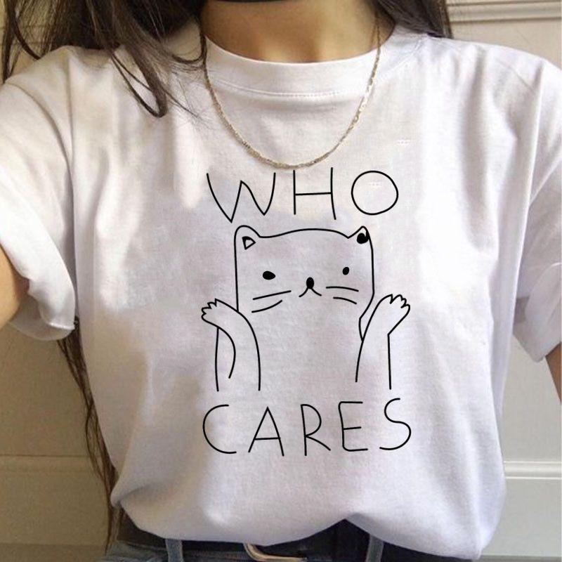 Camiseta estampada feminina, camisa manga curta gola redonda estampada feminino