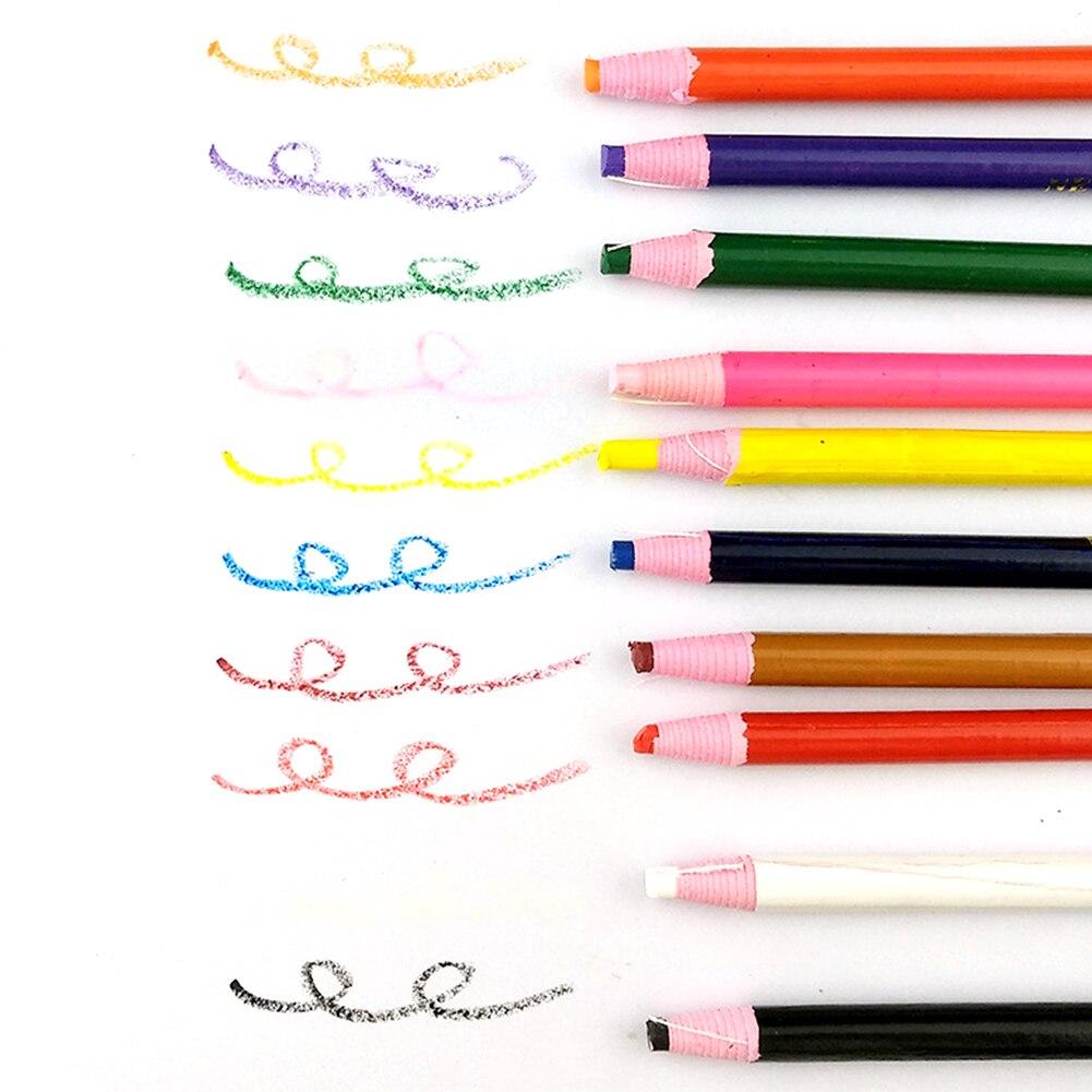 10 unids/set para sastres tirar de crayones accesorios de corte de tela rotulador lápiz Multicolor punto tiza para costura lápices DIY ropa