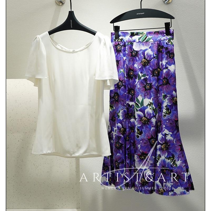 Svoryxiu Fashion Designer Summer White Short Sleeve Blouse Shirt Women's High Quality Acetate Office Lady Shirt Tops
