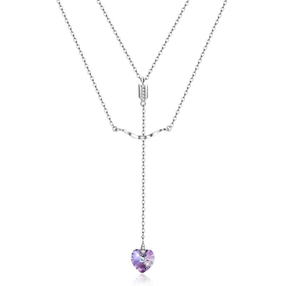 GE457 أنيقة القلب زركونيا حجر عقد به دلاية الخطوبة الزفاف للنساء