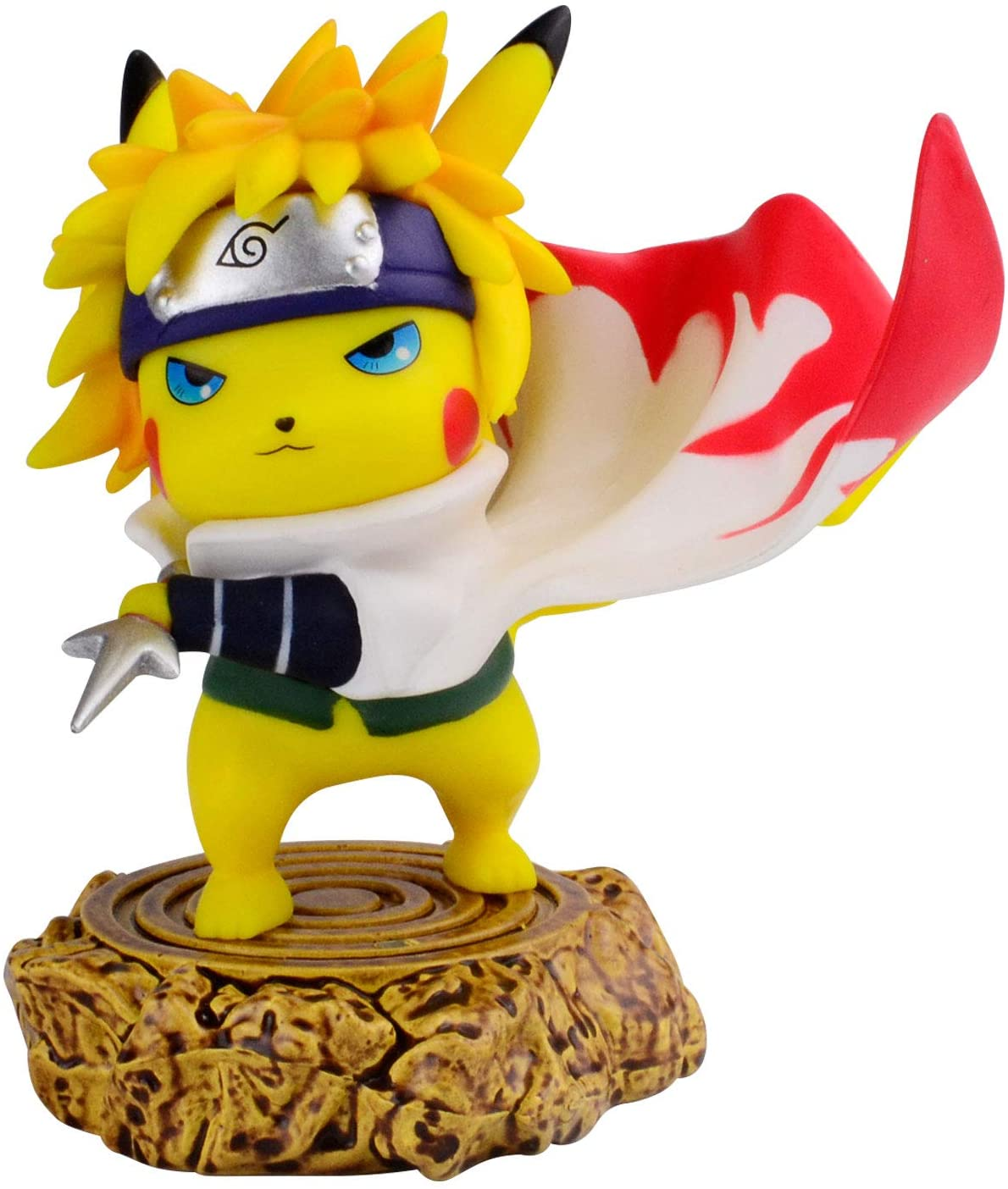 11cm anime pokemon gk pikachu squirtle model statue pvc action figure collectible model toys for children gifts 3.94 Inch Pokemon Anime Pikachu Cosplay Namikaze Minato Action Figure Anime Statue Collection PVC Model Toys Gifts  Kawaii Decor