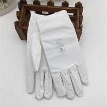 Guantes de protección solar para mujer, guantes finos elásticos de moda para primavera y otoño con protector solar bordado corto para mujer
