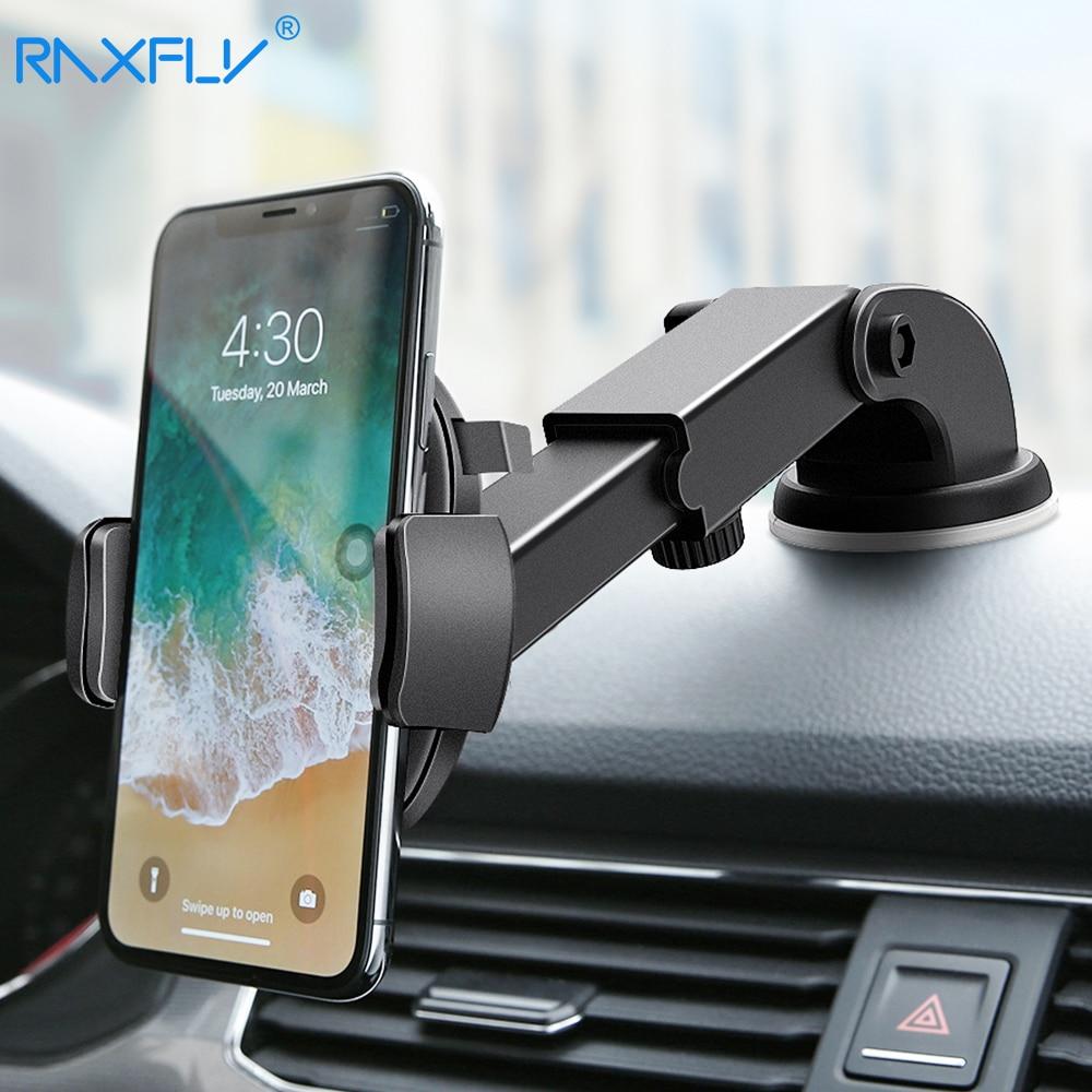RAXFLY soporte de teléfono de coche para iPhone Samsung 360 rotación ventosa navegación del coche soporte del teléfono móvil soporte auto ventosa soporte movil auto soporte movil coche soporte telefono auto
