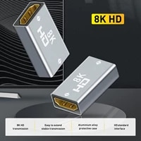converter extender hdmi compatible cable cord extension adapter 8k60hz hdmi compatible female to female for pc tv projector