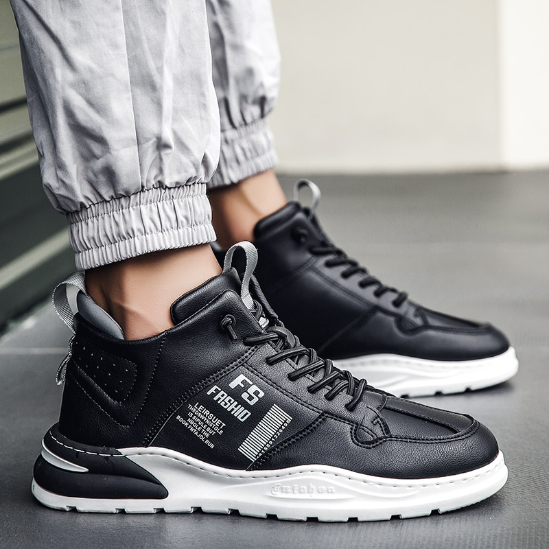 Trend High Top Men's Sneakers Outdoor Fitness sports shoes Breathable Comfortable Men Running Shoes Spring and Autumn Men Shoes men s running shoes autumn new style pu sneakers high quality outdoor lightweight and comfortable sneakers men s sneakers