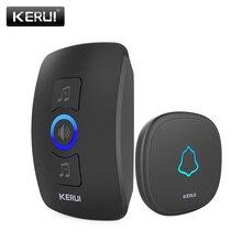 Étanche KERUI32 chansons bouton tactile bienvenue porte cloche intelligente maison alarme intelligente sans fil sonnette pour la sécurité dalarme à la maison