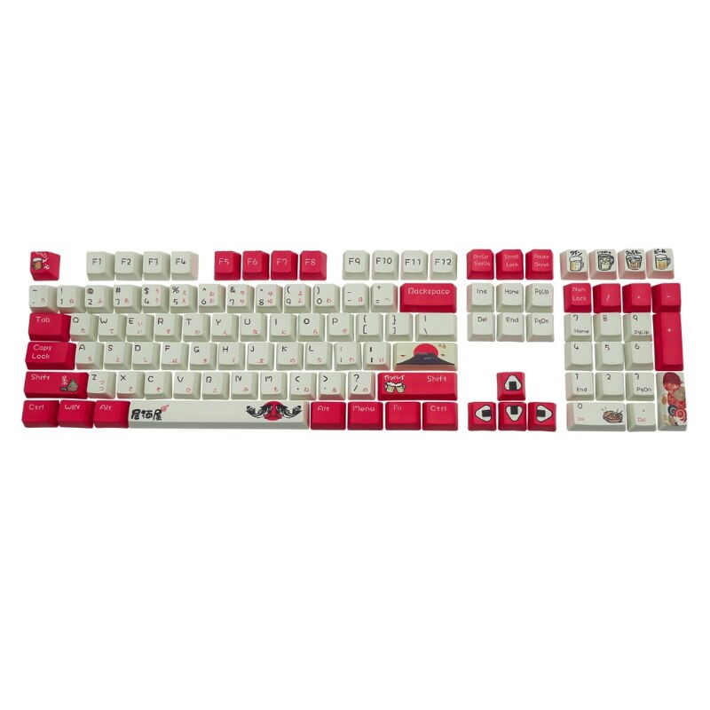 H052 108 مفاتيح OEM PBT صبغ الفرعية كيكابس مجموعة كاملة لوحة المفاتيح الميكانيكية كيكابس قبعة PBT