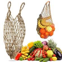 2019 yeni örgü alışveriş çantası kullanımlık dize meyve depolama çanta tote kadın alışveriş Mesh Net dokuma çanta mağazası market alışveriş çantası