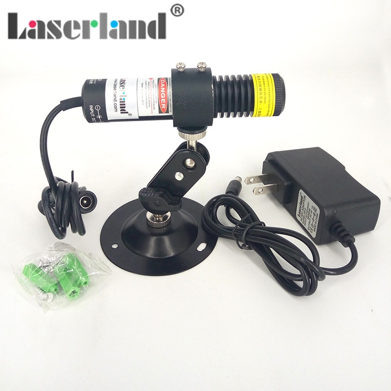 Lente Powell módulo láser de línea 22*100 405nm 100mw 110 ° impermeable Anti-prueba IP65 Machine Vision