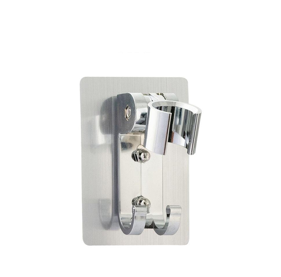 Фото - Кронштейн для душевой лейки без отверстий, Подвижный кронштейн, регулируемый кронштейн для ванной комнаты, настенный держатель для душа, ак... кронштейн