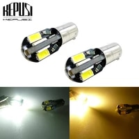 2pcslot led car marker lamps ba9s t4w 5630 smd 8 led auto wedge marker bulb parking light license plate lamp white yellow amber