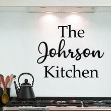 Creativo personalizado nombre adhesivos para pared de cocina para la cocina decoración Greaseproofness impermeable adhesivos removibles para pared pegatinas murales