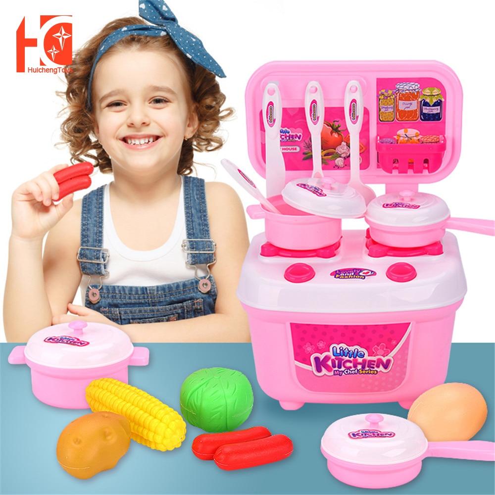 Ролевые игрушки для кухни, кухонные игрушки, кухонный игровой набор для детей, развивающие игрушки, мини-кухня для ролевых игр
