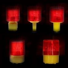 LED พลังงานแสงอาทิตย์ Strobe คำเตือนสีแดงสำหรับ Night แผนที่การก่อสร้างกรวยสัญญาณฉุกเฉินความปลอดภั...