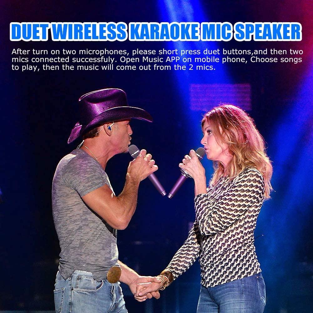 Karaoke Microphone Wireless Singing Machine with Bluetooth Speaker for Cell Phone/PC, Portable Handheld Mic Speaker enlarge