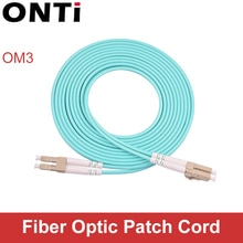 ONTi 10G OM3 LC-LC UPC Multimode Duplex 3.0MM cordon de raccordement à fibres optiques LC-LC câble de raccordement à fibres optiques câble de raccordement à fibres optiques