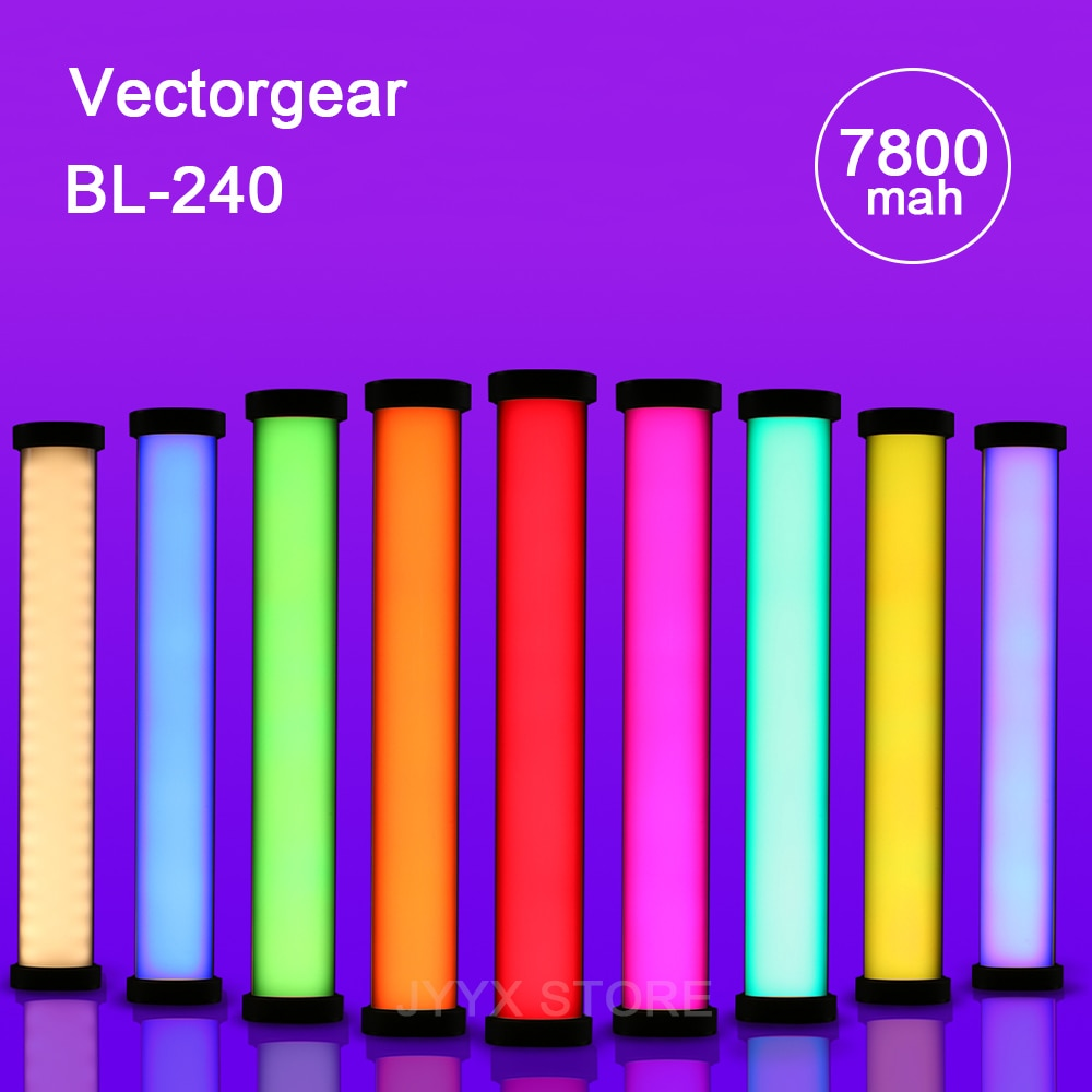 Vectorgear يده أنبوب ضوء عصا RGB ملء ضوء صور كاميرا فيديو ضوء Pavotube LED RGB التصوير الإضاءة VS Nanlite 6C