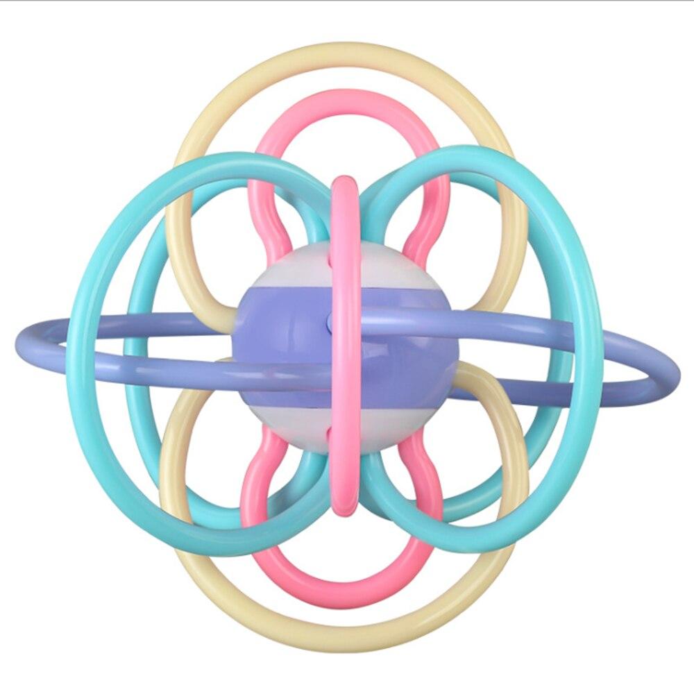 Игрушки для младенцев 0-12 месяцев, силиконовые тактильные игрушки для новорожденных, шарик-грызунок, погремушка, тренировочная сенсорная ру...
