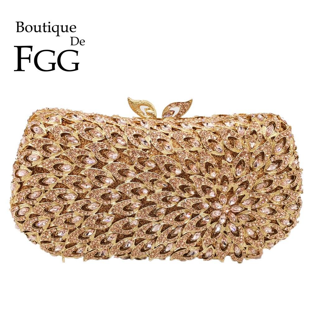 Boutique De FGG-حقائب سهرة نسائية من الماس ، وحقائب يد معدنية ، وحقيبة كريستال لحفلات الزفاف