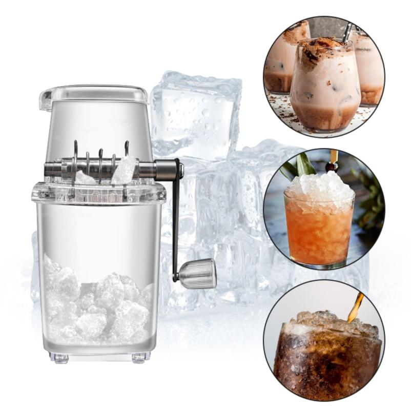 المنزل دليل كسارة الجليد متعددة الوظائف اليد ماكينة كشط الثلج الجليد المروحية المطبخ بار الجليد الخلاطات أدوات