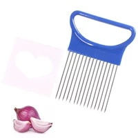 stainless steel onion needle onion fork vegetables fruit slicer tomato cutter cutting safe aid holder cutting aids supplies tool