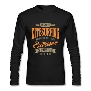 2020 High Quality 35 Knots Kitesurfing T Shirt Long Sleeve T-shirts For Men Top Cosplay Cotton Funny TeeShirts Oversized Fashion