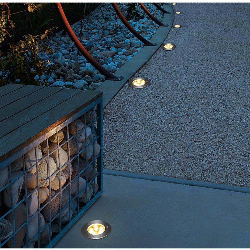 Luz LED subterranea impermeable de 1W y 3W lampara de pie para camino de jardin, lampara enterrada para exteriores enlarge