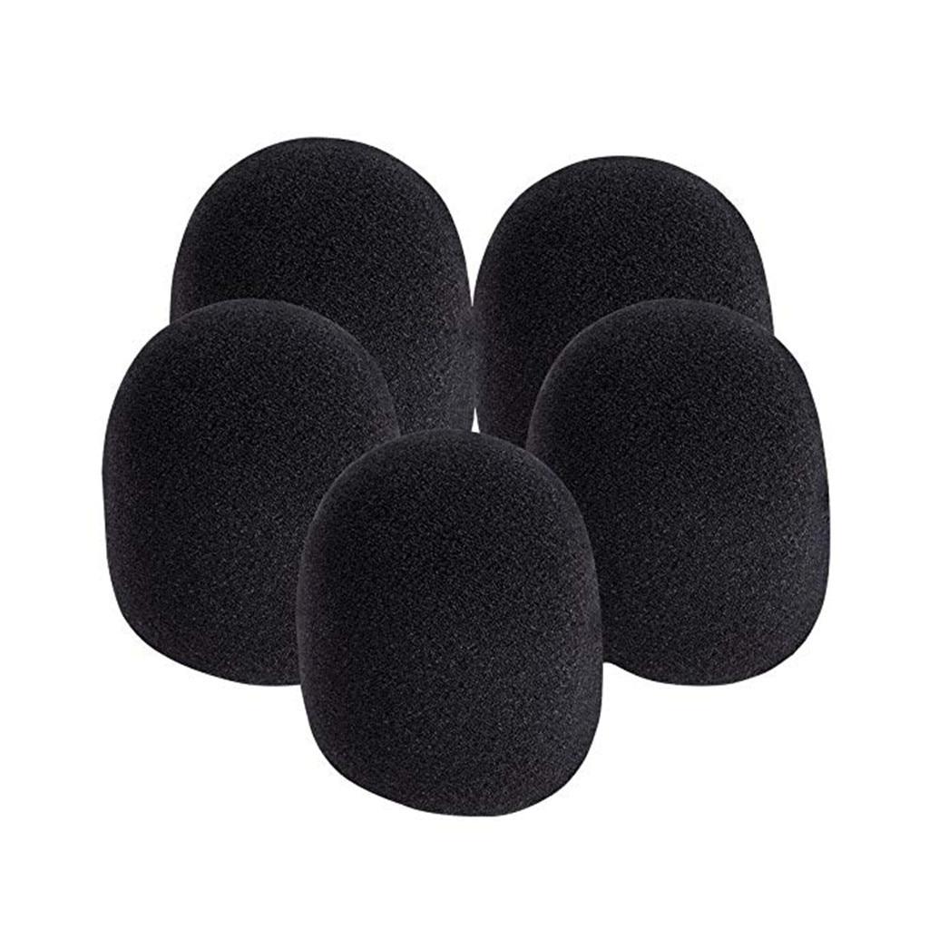 Espuma bola-tipo mic anti saliva pára-brisas para microfones novos 5 pces anti saliva, pára-brisa microfone capa à prova de poeira