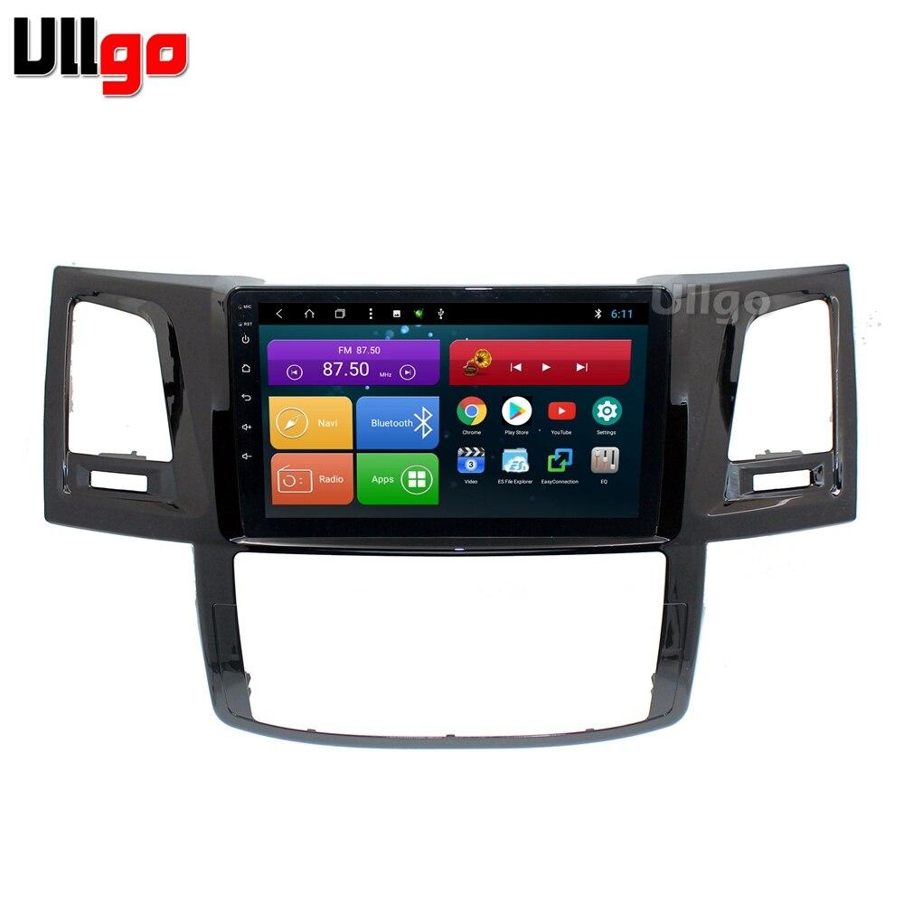 """4G + 64G Octa Core 9 """"Android 8,1 coche DVD GPS para Toyota Hilux Vigo Fortuner Autoradio GPS unidad de cabeza con RDS BT enlace Wifi"""
