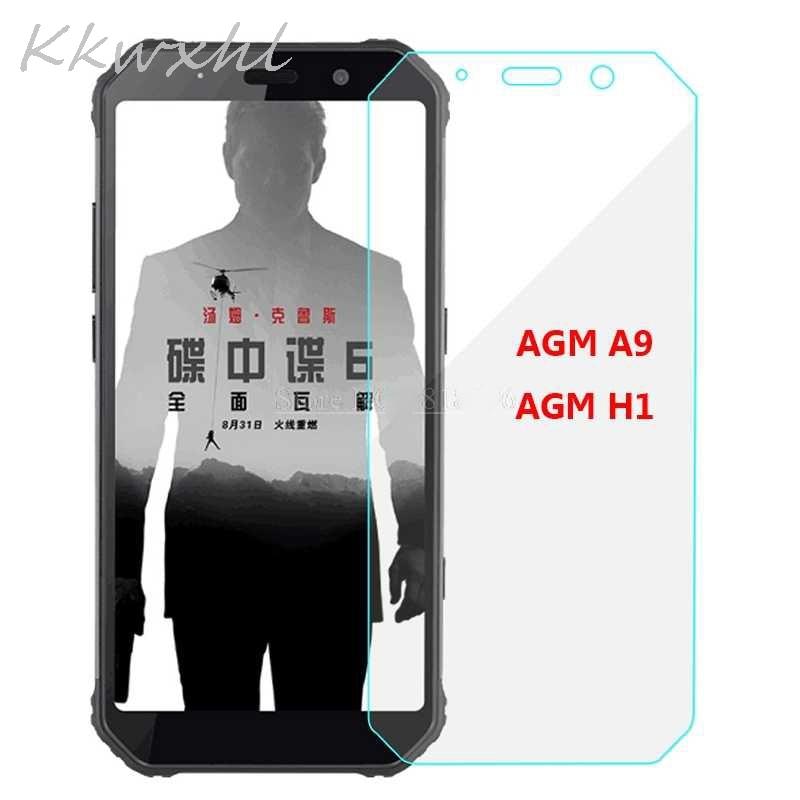 Smartphone 9H vidrio templado para AGM A9 película protectora de vidrio en la cubierta del Protector de pantalla AGM H1