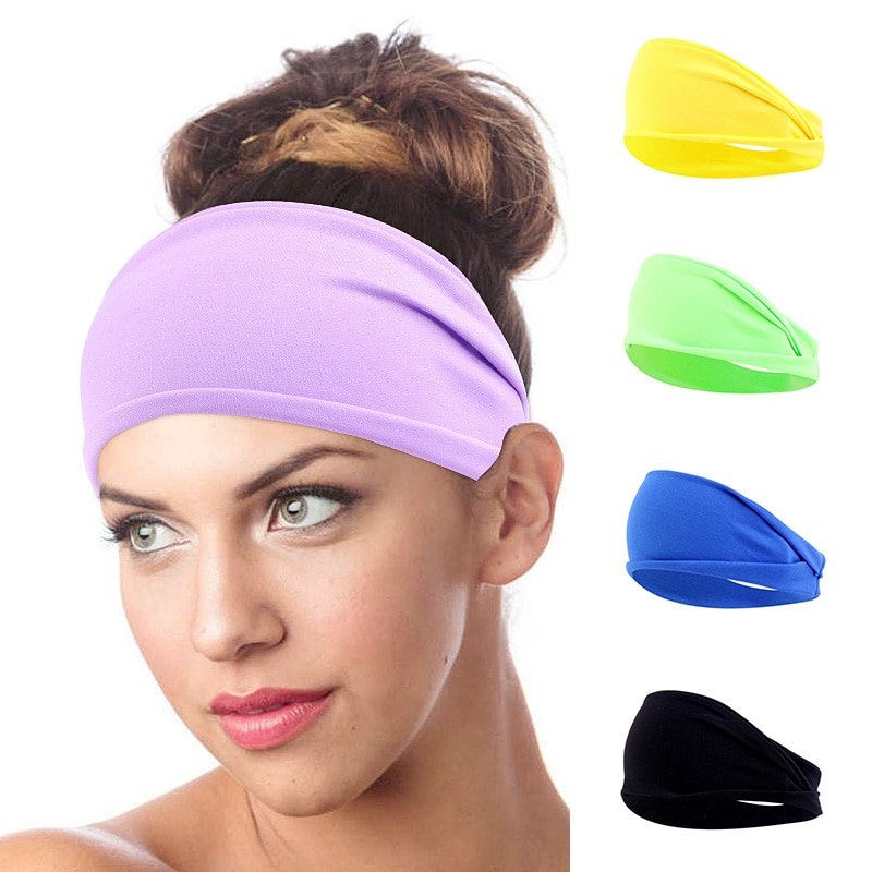 Elastische Yoga Sport Hoofdband Mannen Vrouwen Zweetband Outdoor Fietsen Running Haarband Headwrap Fitness Sport Accessoires