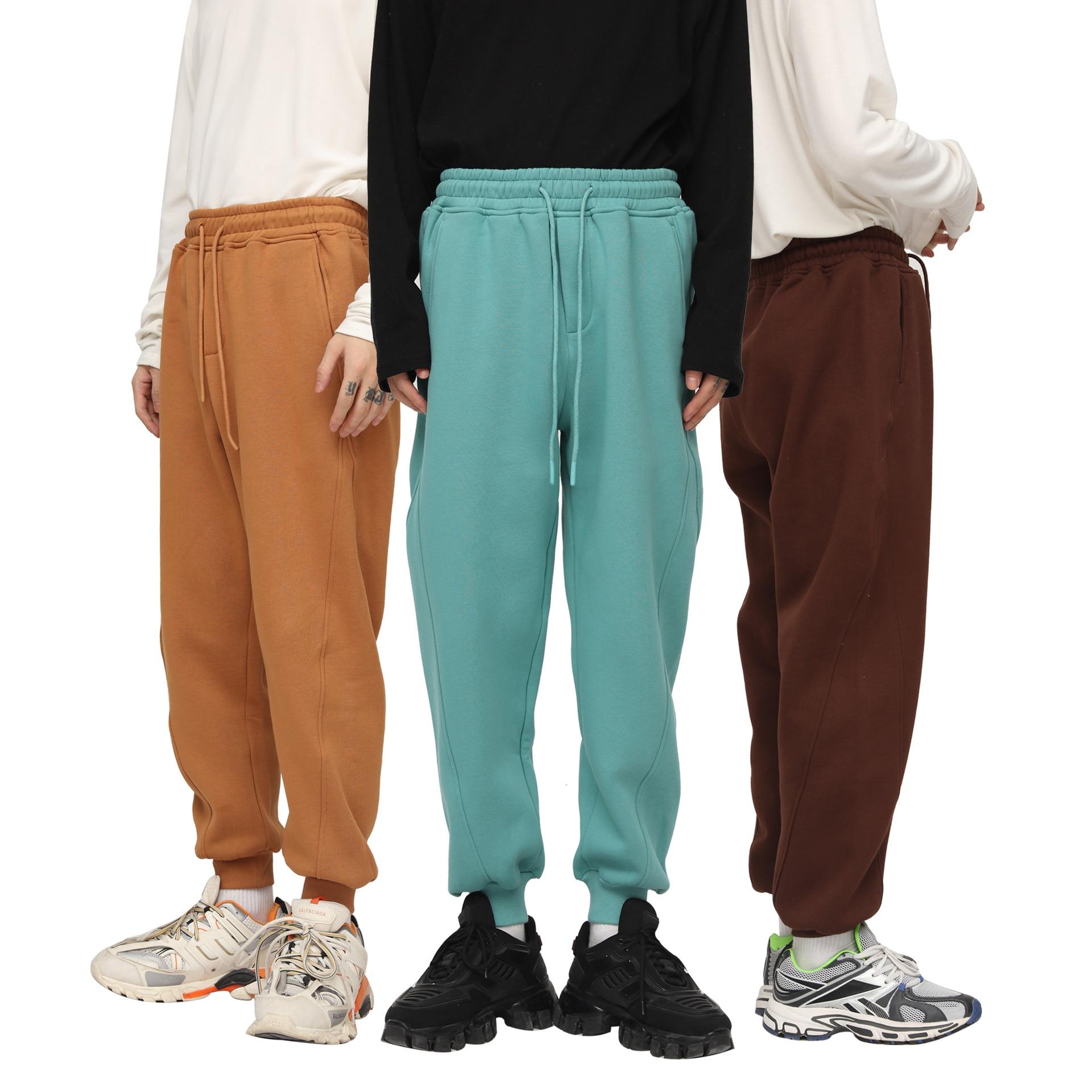 Брюки мужские Зимние флисовые, повседневные спортивные штаны с эластичным поясом, однотонные теплые уличные спортивные брюки для бега, оде...