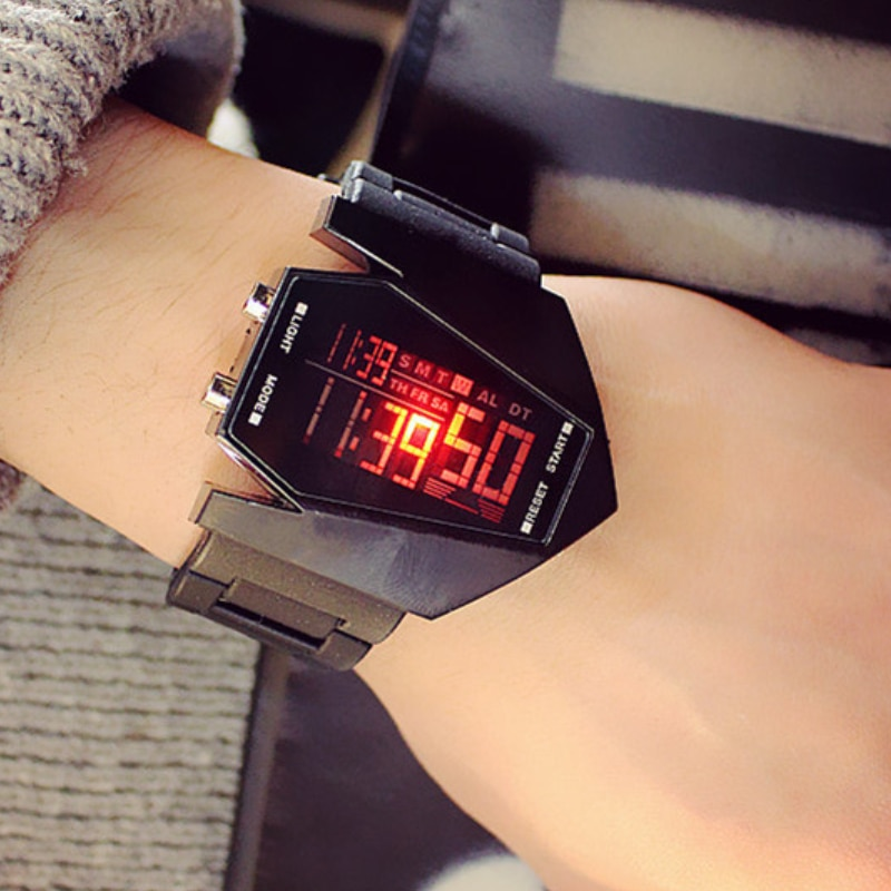 LED Harajuku Fashion Trend Student Luxury Silicone Clocks Men Women Couple Multi-Function Sports Electronic Alarm Digital Watch