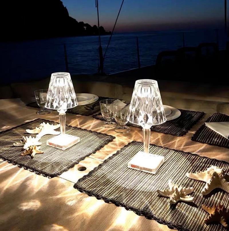 Acrylic Table lamp decoration for bedroom living room Desk lamp study crystal art deco Bedside night lights lighting