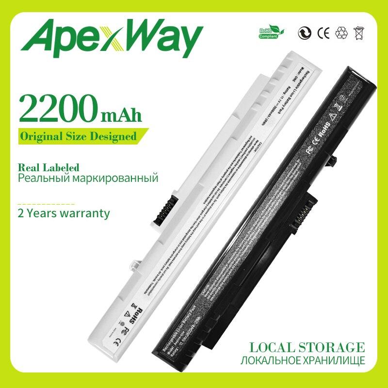 Batería de portátil Apexway para Acer One 571, 8,9, A110, A150, D150, D250, P531h para Gateway, LT1001J, LT2000, UM08A31, UM08A51, UM08A71 y UM08B31