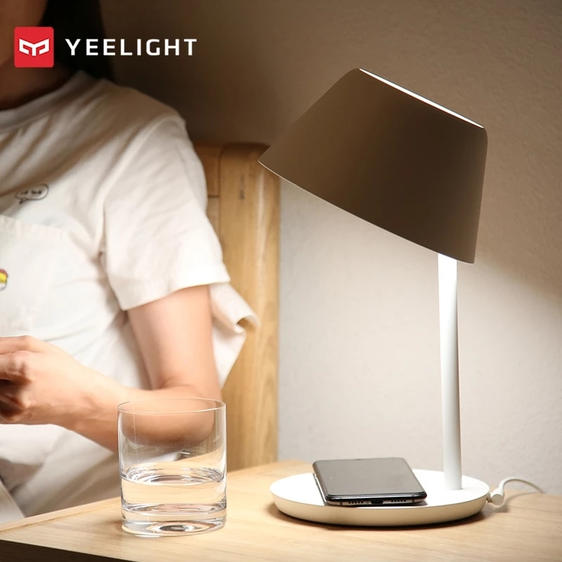 Yeelight YLCT03YL مصباح السرير الذكية واي فاي اللمس عكس الضوء LED اللاسلكية شحن داخلي الإضاءة آيفون