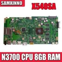 f540s for asus vivobook x540sa x540s cpu n3700 memory 8gb laptop motherboard tested 100 work original mainboard