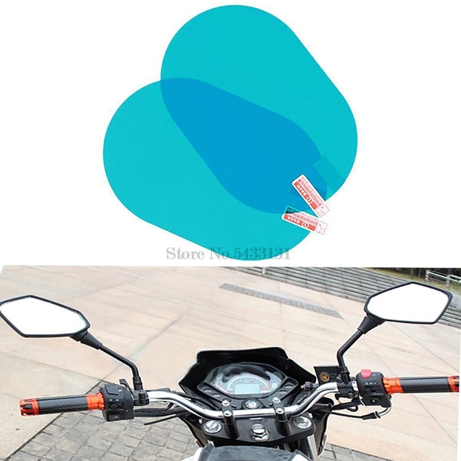 Accesorios laterales de espejo de motocicleta película impermeable anti lluvia para 650 accesorios Vespa Cnc espejos K1200Lt Honda hyosung