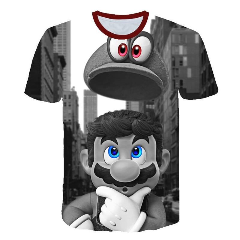 Nuevo original noche clásico juego de Super Mario niño y niña camiseta super smash hermano 3D camiseta hip-hop camiseta calle sty