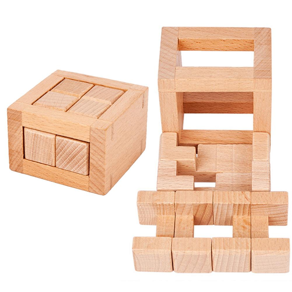 Wooden Kongming Luban Lock Puzzles Magic Brain Teaser Anti Stress Toy Kids Gift creative thinking and improve both IQ EQ