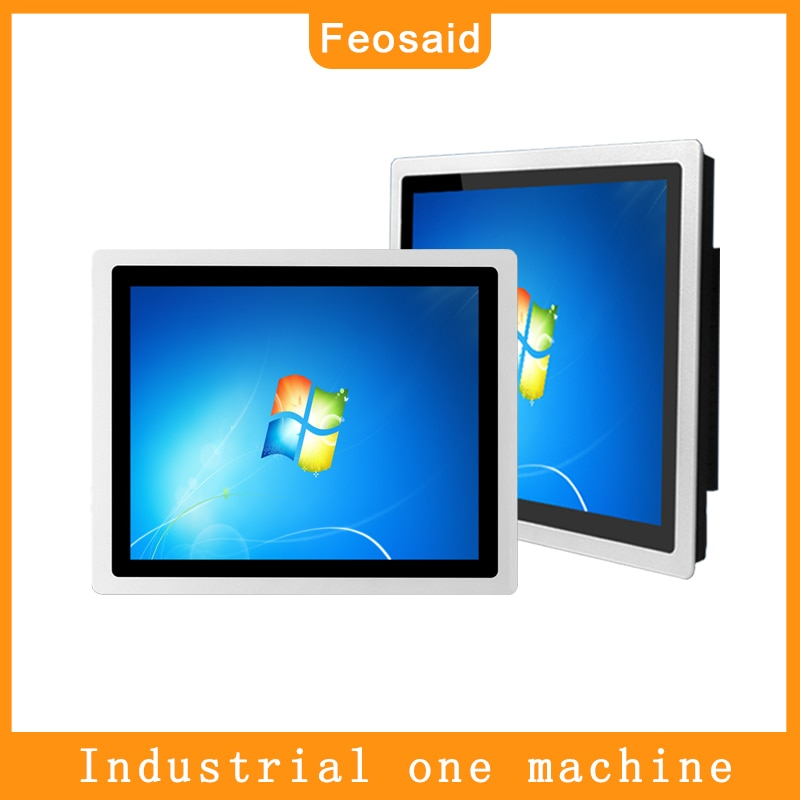 19 inch Embedded capacitive touch industrial computer, 8G RAM 64G SSD core i5 mini pc ,Metal shell Self-service termina