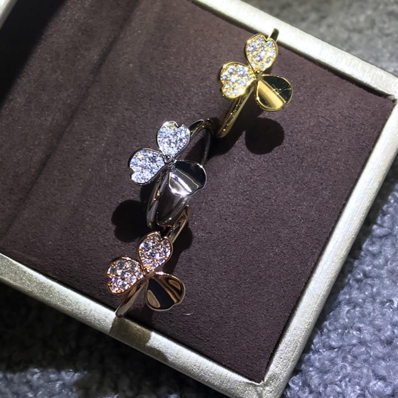 Precioso conjunto de Tres anillos para mujer de acero inoxidable de tres...