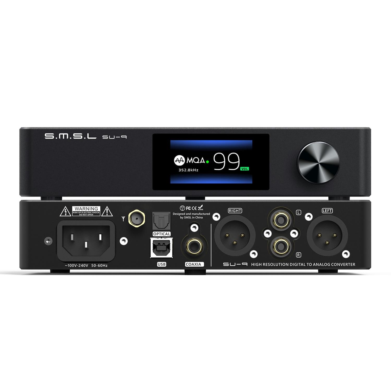 SMSL SU-9 MQA الصوت DAC بلوتوث ES9038Pro كامل فك 2nd الجنرال XMOS DSD512 PCM 768kHz مع UAT LDAC USB الناتج متوازن SU9