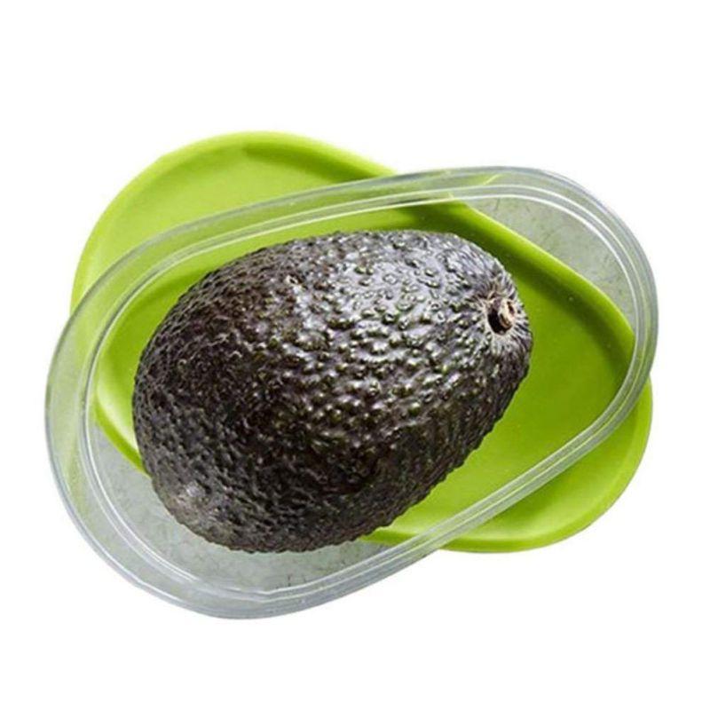Mini caja de conservación de frutas y verduras para recipiente de almacenamiento de aguacate de plástico para mantener la fruta fresca de la cocina AccessoriesCM