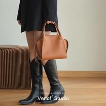 Women's Leather Handbag Female Fashion Cowhide Shoulder Crossbody Small Bag Ladies Casual Shopping B