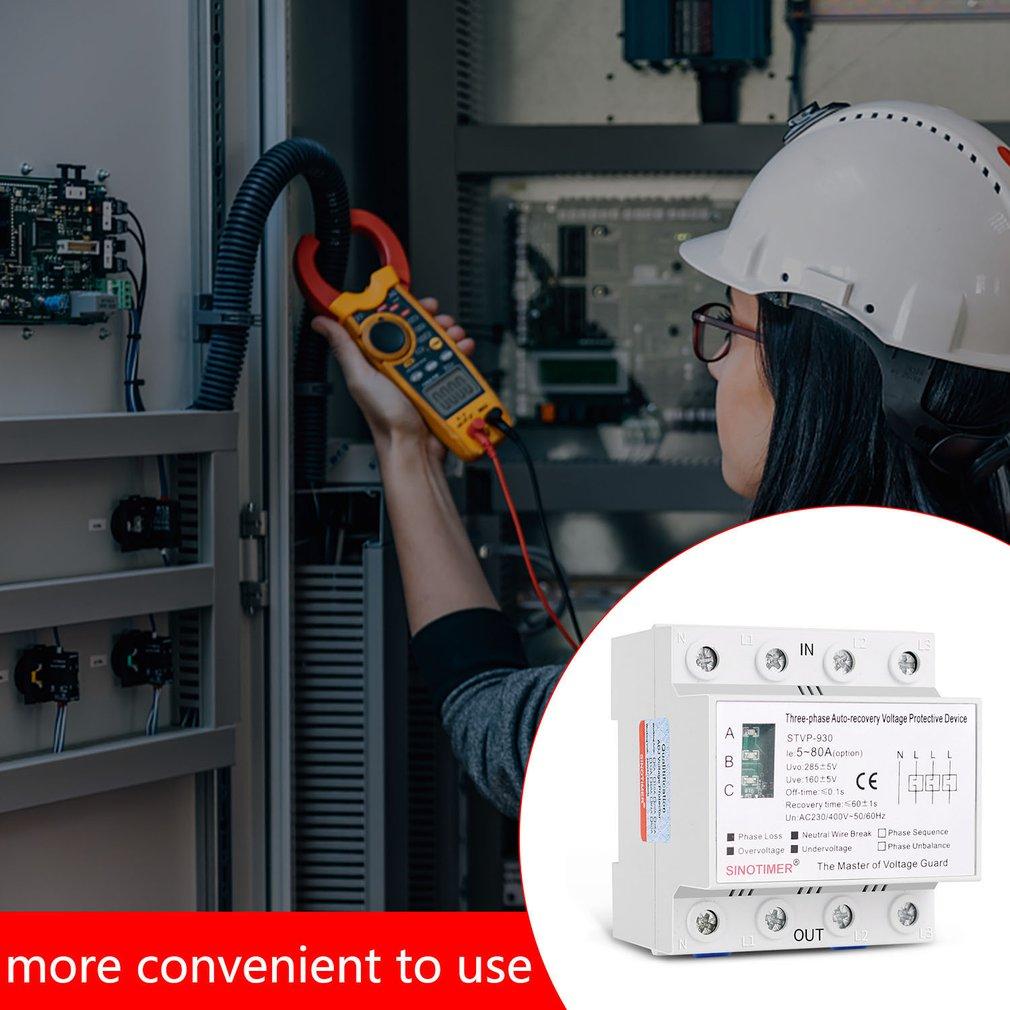 أجهزة حماية الجهد الزائد ذاتية الاسترداد ، 380 فولت ، ثلاثية الأطوار ، مثبتة على سكة DIN