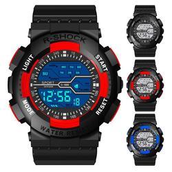 2020 honhx moda e relógios de luxo à prova dwaterproof água crianças menino digital led quartzo alarme data esportes relógio pulso para mulher