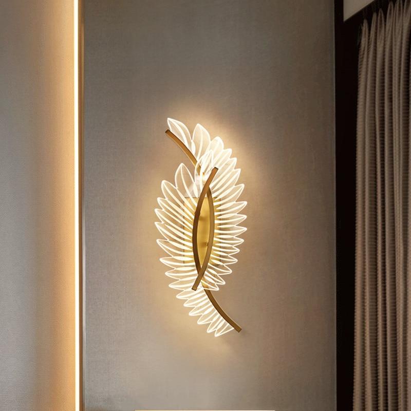 Artpad الجدار أضواء للمنزل غرفة المعيشة الحديثة غرفة نوم الممر مصباح الديكور النحاس شمعدانات جدارية الإضاءة الداخلية AC96V-260
