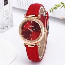 2021 New Fashion Luxury Analog Quartz Crystal Wristwatch Fashion Women Leather Casual Watch Relojes