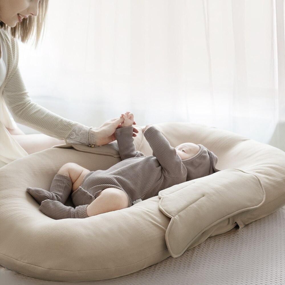 SUNVENO Portable Baby Nest Bed Baby Lounger & Infant Floor Seat-Newborn Essentials,Organic Cotton,Fiberfill Newborn Bed enlarge
